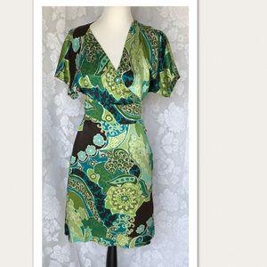 Banana Republic 100% Silk Wrap Dress